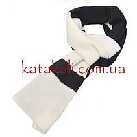 Полосатый черно-белый шарф