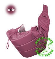 Кенгуру - слинг для переноски детей Banana №11 standart ( бордовый ) Womar