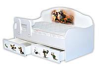 Кроватка диванчик Панда Кунфу