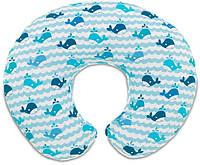 "Подушка для кормления Chicco ""Boppy"" Blue Whales (79902.35)"