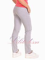 Трикотажные брюки женские светло-серые