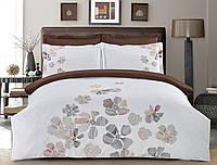 Комплект постельного белья Евро HomeLine Сатин 200х220 КВІТИ в коробке