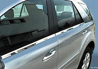 Хром молдинг стекла Mercedes ML w164