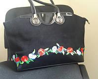 Большая женская сумка с вышивкой