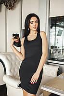 Женское платье майка Черное мини