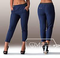Укороченные женские брюки на резинке Размеры: 48, 50, 52, 54