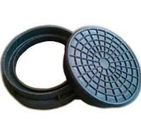 Крышка колодца полимер-песчаная д 315 черная.