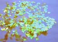 """Пленка для эффекта """"Битое стекло"""" порезанная в колбочках  желтая"""