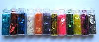 """Пленка для эффекта """"Битое стекло"""" порезанная в колбочках  набор из 12 цветов"""