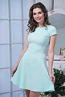 Однотонное трикотажное платье цвета мяты