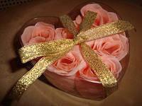 Подарочное мыло-розочки, 6 шт. в упакопке