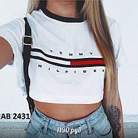 Женская короткая футболка