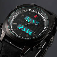 Мужские наручные часы Shark 2nd Mens Black Stopwatch Alarm Sport Digital LCD Quartz Watch