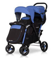 Прогулочная коляска для двойни EASY GO FUSION DUO sapphire