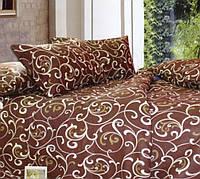 Постельное белье Вензель шоколад, перкаль 100% хлопок - двуспальный комплект
