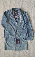 Летний джинсовый костюм для девочек Горошинка