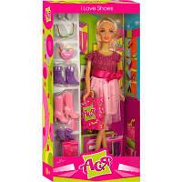Кукла ToysLab Я люблю обувь блондинка Ася в розово-сиреневом платье 28 см (35048)
