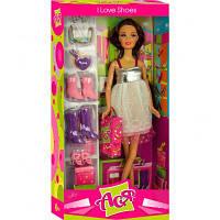 Кукла ToysLab Я люблю обувь брюнетка Ася в бело-серебристом платье 28 см (35049)