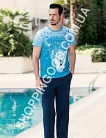 Мужская пижама Sahinler 22905, костюм для дома и отдыха футболка и брюки