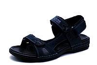 Сандалии Adidas, мужские, кожаные, темно-синий, фото 1