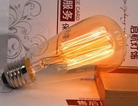 Лампочка накаливания st58-2 Лампа Эдисона Е27 DIY.  Декоративный свет вольфрам.