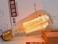 Лампочка накаливания st64-2 Лампа Эдисона Е27 DIY. Декоративный свет вольфрам.