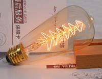 Лампочка накаливания st64-3 Лампа Эдисона Е27 DIY. Декоративный свет вольфрам
