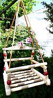 Качели подвесные деревянные