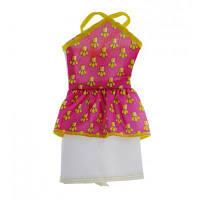 Аксессуар к кукле BARBIE Розово-белое платье для Барби (CFX65-3)