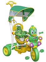 """Велосипед детский трехколесный с ручкой """"Little Duck"""" зеленый"""