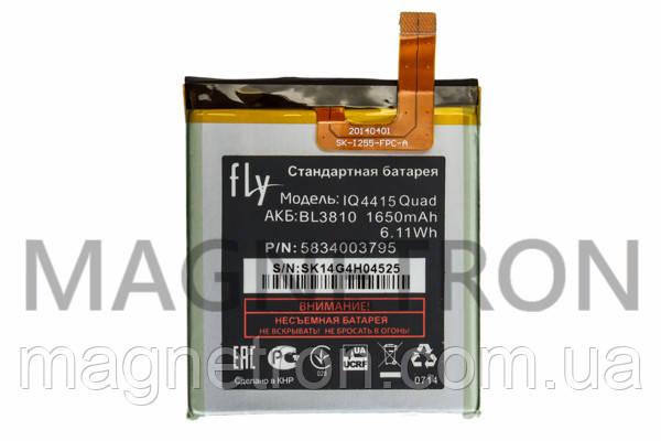Аккумуляторная батарея BL3810 Li-ion к мобильному телефону Fly 1650mAh, фото 2