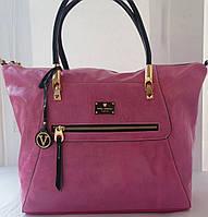 Розовая сумка из натуральной кожи Velina Fabbiano