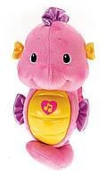 Игрушка музыкальный светильник морской конек Фишер прайс Fisher-Price Soothe and Glow Seahorse, Pink