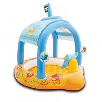 Детский бассейн для грудничков Intex Pool Little captain 57426: 107х102х99 см, навес, винил
