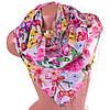 Оригинальный и яркий шифоновый шарф 176 на 66 см SOFTEL (СОФТЕЛ) SAT17570