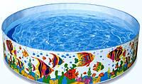 Детский каркасный бассейн Intex Ocean Reef Snapset 56453: 46х244 см, 2089 л, винил, поплавок-дозатор