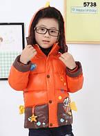 """Зимняя куртка """"Рыбка"""" для мальчика. 90, 110 см"""