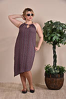 Модное летнее платье-сарафан больших размеров (рр 42-74)