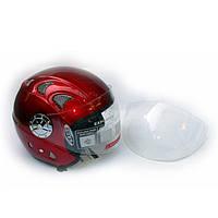 Шлем для скутера DVKmoto -52 красный, размер М   дополнительное стекло антискраб