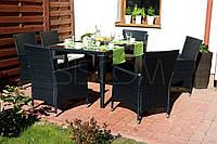 Садові меблі з штучного ротангу Стіл+6 стільців + 6 подушок