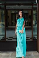Длинное платье +в пол бирюза
