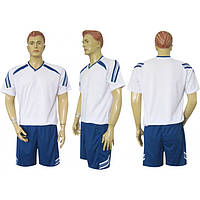 Форма футбольная Ф12 бело-синяя СОБСТВЕННОЕ ПРОИЗВОДСТВО