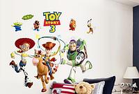 Наклейка на стену, виниловые наклейки мультфильм История игрушек 3 (лист90*60см) Toy story 3