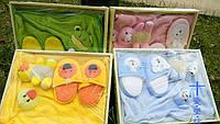 Набор подарочный Розовый зайчик для детей полотенце тапочки игрушка-мочалка