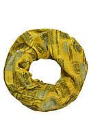 Желтый снуд с надписями