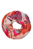 Полупрозрачный шарф-снуд