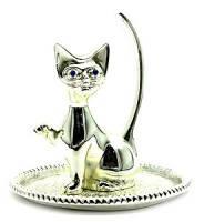 Подставка под кольца Серебряный кот