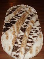 Рельефный длинноворсовый ковер Ника  3D Shaggy 0685 KS White