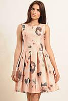 Летнее платье с пышной юбкой Коттон