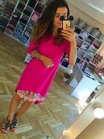 Нарядное платье, ярко-розовое